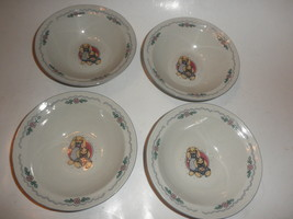 4 Vintage Tabletops Unlimited  rabbits/bunny 7 inch soup bowls - $24.70