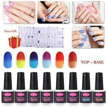 Gel Nail Polish 6pcs Soak Off Color Changing Nail Polish Kit with Top Co... - $24.99