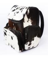 Hair Cowhide Fur Leather Large Travel Black & White Bag Pack  - $165.30+