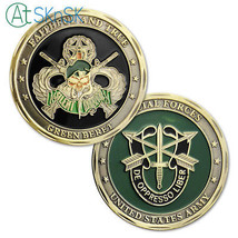 US Green Beret Challenge Coin Military Army Speical Force Theme Collectible - $9.53