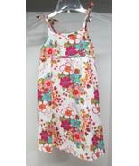 OshKosh 100% Cotton Summer Floral Dress Size 6 Bright Color Floral D65 - $18.32