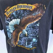 VTG 1988 Harley Davidson 3d Emblem T Shirt Eagle Soars Alone 50/50 Biker 80s XL image 5