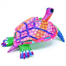 "Handmade Alebrijes Oaxacan Copal Wood Carving Painted Sea Turtle 6.5"" Figurine image 3"