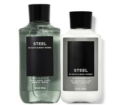 Bath & Body Works Steel Body Lotion + 3-in-1 Hair, Face & Body Wash Duo Set - $32.95