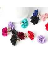 [DIY Flower] 10pcs Fabric Carnation Tassel Earrings Jewelry Handmade Key... - $4.99