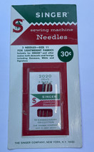 3 Vintage Singer Needles 2020 Size 11 Package - $4.85