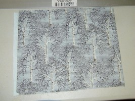 Gail Kessler Andover Fabrics Winter Trees Metallic Quilting Fabric 1/4 Y... - $3.44