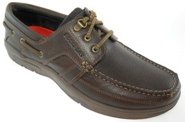 ROCKPORT STREETSAILING 3 EYE OX MEN'S BROWN LEATHER BOAT SHOES, V80918 - $66.59