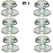 Clear Acrylic Stick-On Beveled Face Mirror Round Knob - Pack of 6 - $77.95