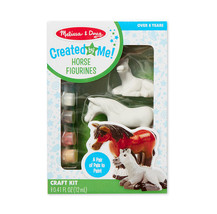 Melissa & Doug Created by Me Horse Figurines Craft Kit: A pair of pals t... - $11.84