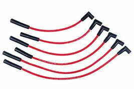 A-Team Performance 8.0 mm Red Silicone Spark Plug Straight Boot 6 Wires, Coil-in image 1