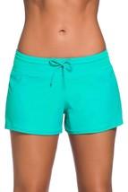DUOLIFU Women Swimsuit Tankini Side Split Plus Size Bottom Board Shorts,Mint,S - $22.09