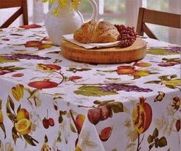 "Benson Mills Botanique Fruit on White Indoor/Outdoor Tablecloth 70"" Round - $23.00"