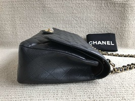 AUTHENTIC CHANEL BLACK QUILTED CAVIAR MAXI CLASSIC DOUBLE FLAP BAG GHW image 5