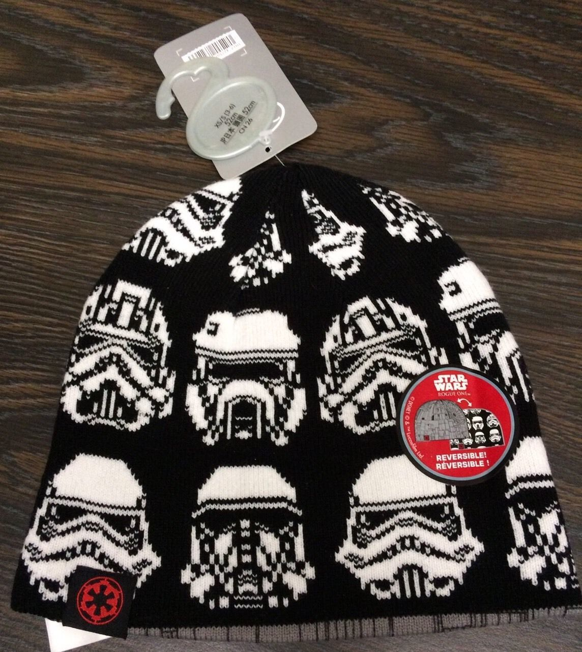 Primary image for Disney Store Star Wars Stormtrooper Reversible Beanie Kids Hat sz XS S 3-6