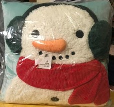 3-D Snowman Pillow New - $8.59