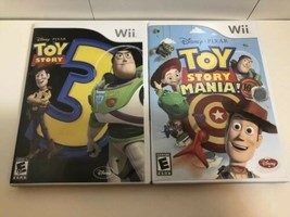 (2 game lot) Nintendo Wii Toy Story Bundle: 3 AND Mania! Complete w Glasses! - $23.27