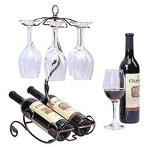 Sangyn Tabletop Freestanding Stackable Wine Glass Metal Rack Countertop ... - $34.65
