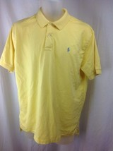 RALPH LAUREN Mens Large Yellow Short Sleeve Soft Cotton Polo Shirt Gray ... - $23.95