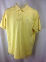 RALPH LAUREN Mens Large Yellow Short Sleeve Soft Cotton Polo Shirt Gray ... - $23.95