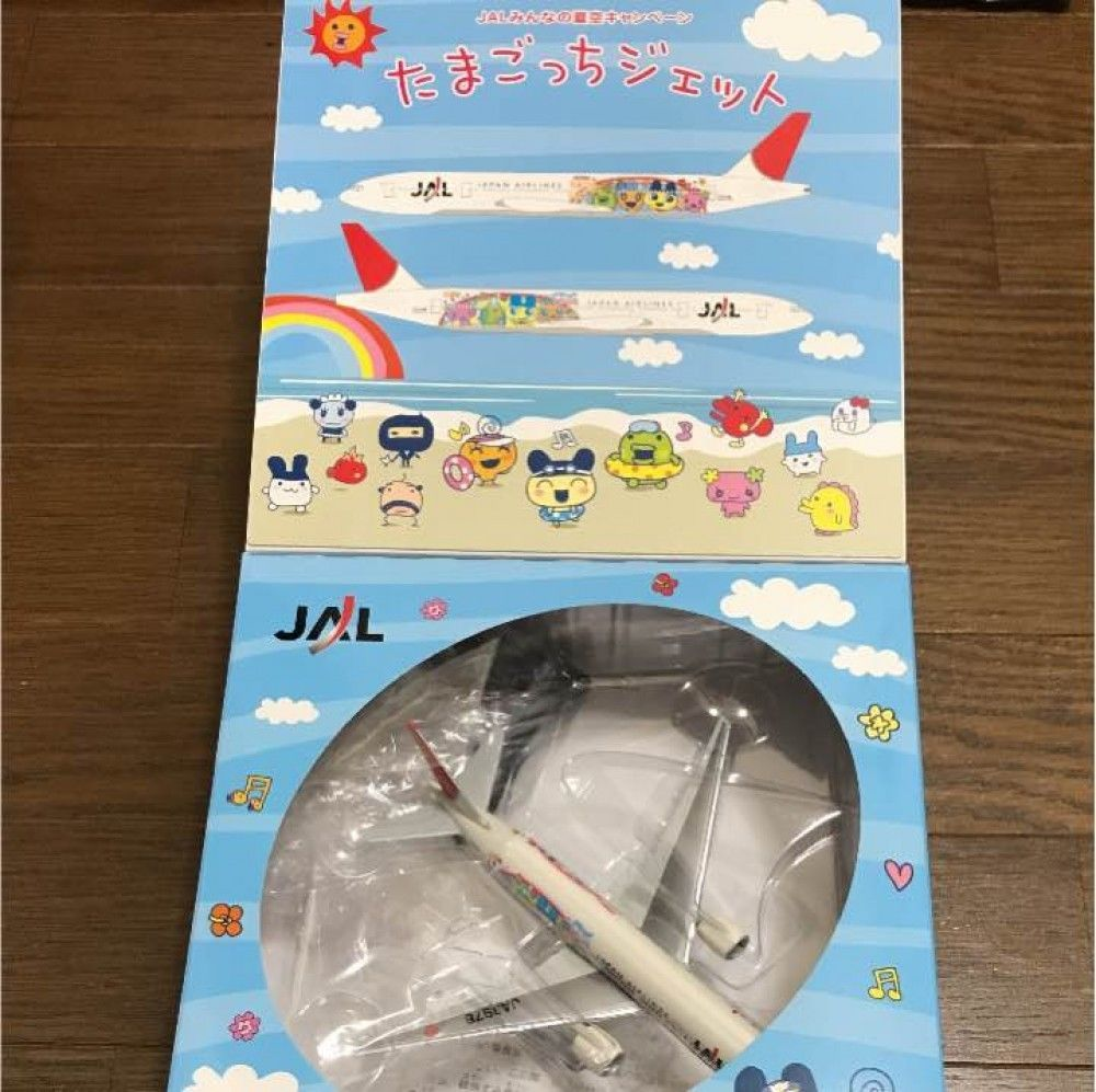 Tamagotchi Jet 2007 JAL B777-200 1:400 Diecast used Boxed Japan Free Shipping