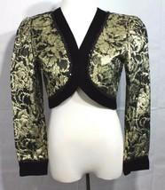 Vintage Maya Jornot for Michael Marcella women's blazer cropped gold size 8 - $13.23