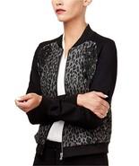 Kobi Women's New Embroidered Printed Bomber Jacket Leopard Print Size Sm... - $19.80