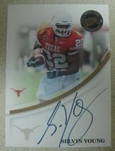 Selvin Young 2007 Press Pass Bronze Autograph Texas Longhorns - $3.95