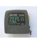 "SEARS Locking Tape Measure w/Belt Clip 25 Ft 1""-Wide Blade #39399 Vintag... - $16.65"