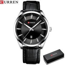 Fashion Casual Watches Clock CURREN New Men   Watch Simple Wristwatch with Leath - $53.09