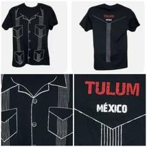 GUAYABERA Camisa de Yucatán Latin Mexico Tulum Printed T Shirt Men's Medium - $14.52