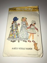 Vintage 1973 Simplicity Holly Hobbie Sewing Pattern Cut 5996 Girls size ... - $9.89