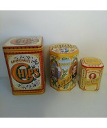 Vintage advertising CARMICHAEL'S HAGUE'S RADFORD'S TINS chips nuts pretz... - $116.05