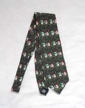 Hallmark Holiday Traditions all silk Tie  Snowman Family mom dad child - $14.99
