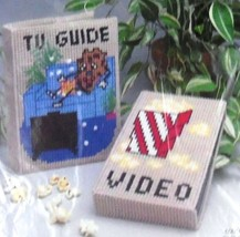 COUCH POTATO TV Guide Cover & VHS Case NEW Needlecraft Ala Mode Kit S91-605 - $6.85