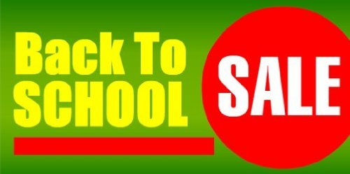 3x6 Vinyl Banner - Back to School Sale Green