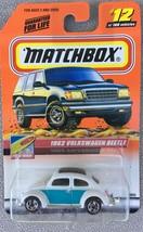 Matchbox Beach VW 1962 Volkswagon Beetle Bug #12/100 Cars White - MIP - $8.95