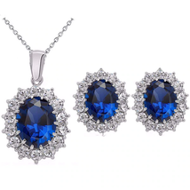 Fashion Crystal Stone Jewelry Sets For Brides Silver Color Necklace Set(... - $23.64
