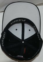 Flexfit Black 6277 Twill Hat S M Permacurv Visor With Silver Undervisor image 5