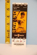 2009 San Francisco Giants Baseball Ticket w/Aaron Rowand Cover Ex Seat 11 - $6.93
