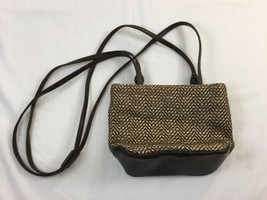 Liz Claiborne Womens Purse Brown Woven Hand Bag Small - $12.86