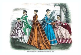 Mme. Demorest's Mirror of Fashions, 1840 #6 - Art Print - $19.99+