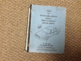 1991 Buick Park Avenue Ultra Rand & Chassis Match Kariert Manual Sehr Selten - $119.54