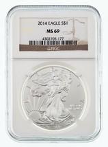 2014 Silber American Eagle Ausgewählten von NGC As MS-69 - $44.62