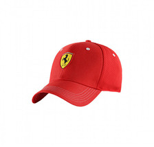 Puma Ferrari Red Logo Hat Rosso Corsa Wide Brim Strap Back Baseball Cap image 2