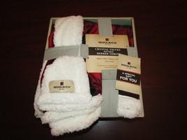 "woolrich buffalo plaid berber throw blanket 50x60"" new in box  - $39.95"