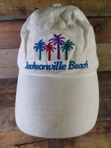 Jacksonville Beach Florida White Adjustable Adult Cap Hat - $9.89