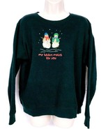 Hanes Women's Christmas Sweat Shirt XL Snowman My Heart Melts For You - $18.80