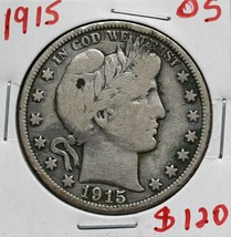 1915 Silver Barber Half Dollar 50¢ Coin Lot# A 614