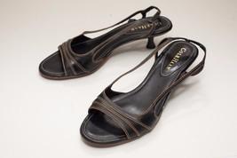 Cole Haan 6.5 Black Sandals Kitten Heels Slingback - $76.00